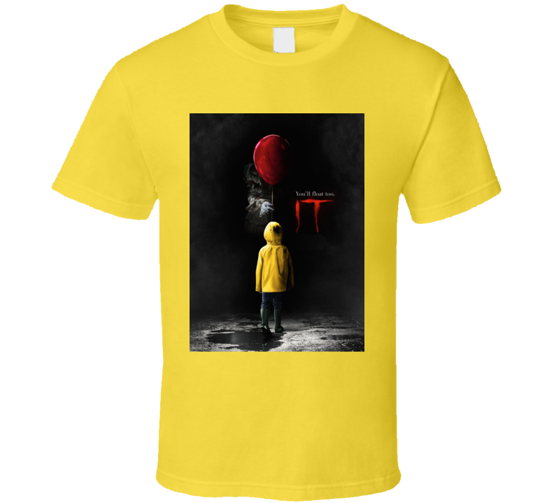 It Horror Movie Pennywise Stephen King Poster T Shirt