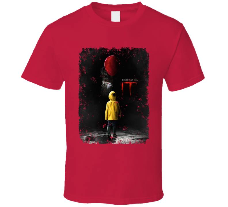 It Horror Movie Pennywise Stephen King Poster Distressed T Shirt