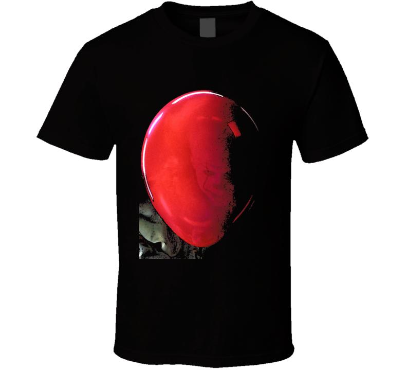 It Horror Movie Pennywise Stephen King Balloon Art Black T Shirt