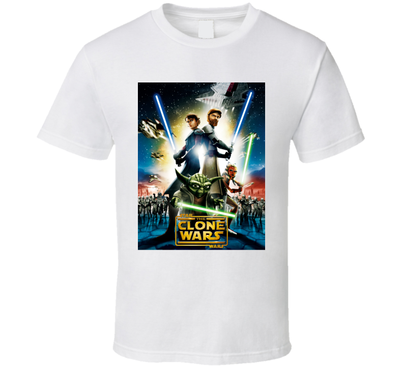 Star Wars The Clone Wars Movie Poster T Shirt
