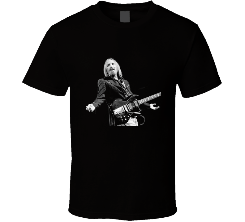 Tom Petty Heartbreakers Rock Music Singer Black T Shirt