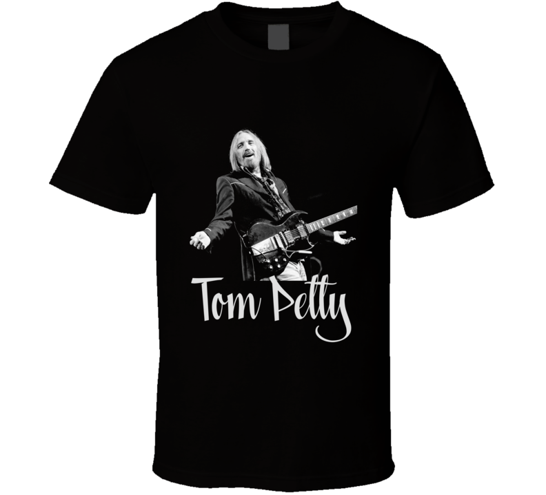 Tom Petty Name Heartbreakers Rock Music Singer Black T Shirt