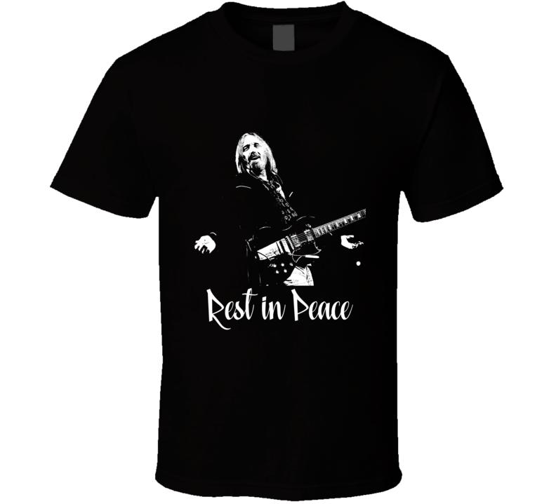 Tom Petty Rest In Peace Heartbreakers Rock Music Art T Shirt