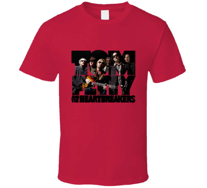 Tom Petty Heartbreakers Logo Rock Music Band T Shirt