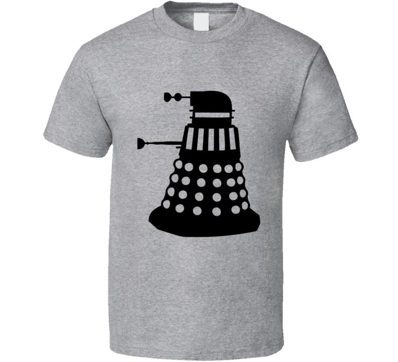 Dalek Outline Shadow Doctor Who Alien Race T Shirt