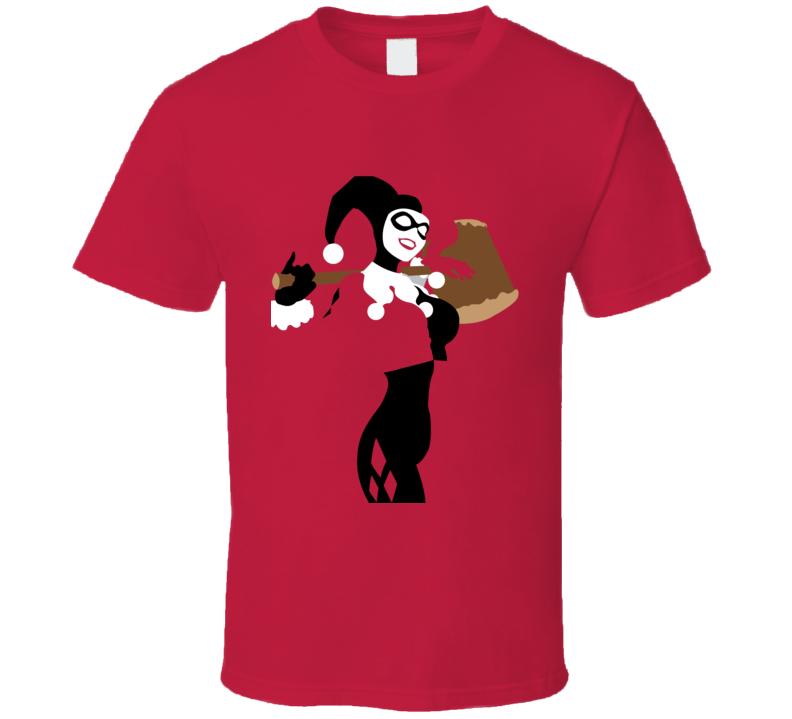 Harley Quinn Comic Book Villain Minimalist Figure Red T Shirt