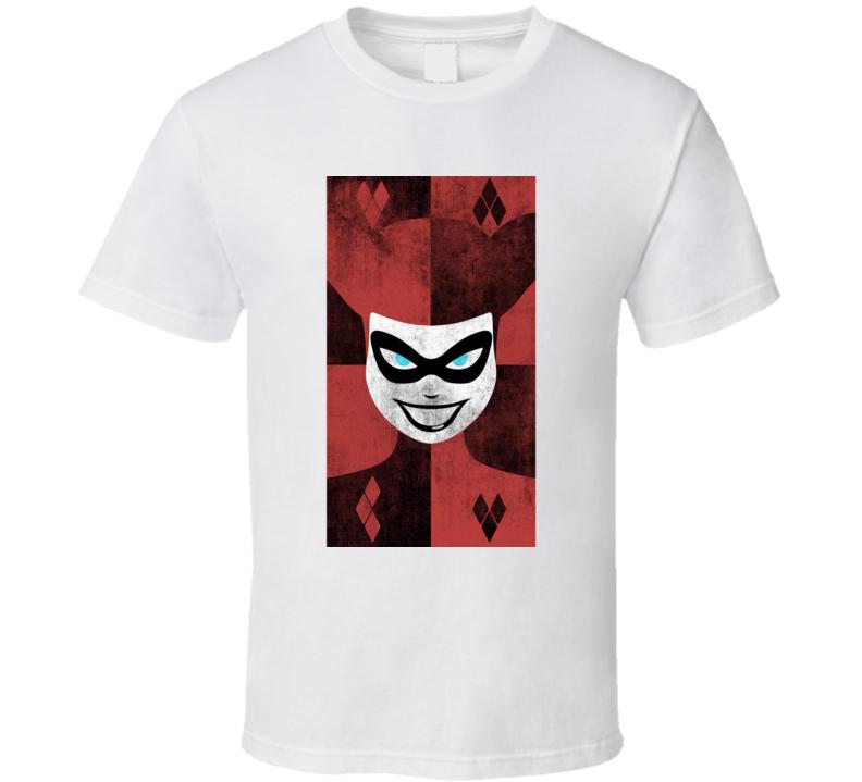 Harley Quinn Comic Book Villain Minimalist Portrait T Shirt