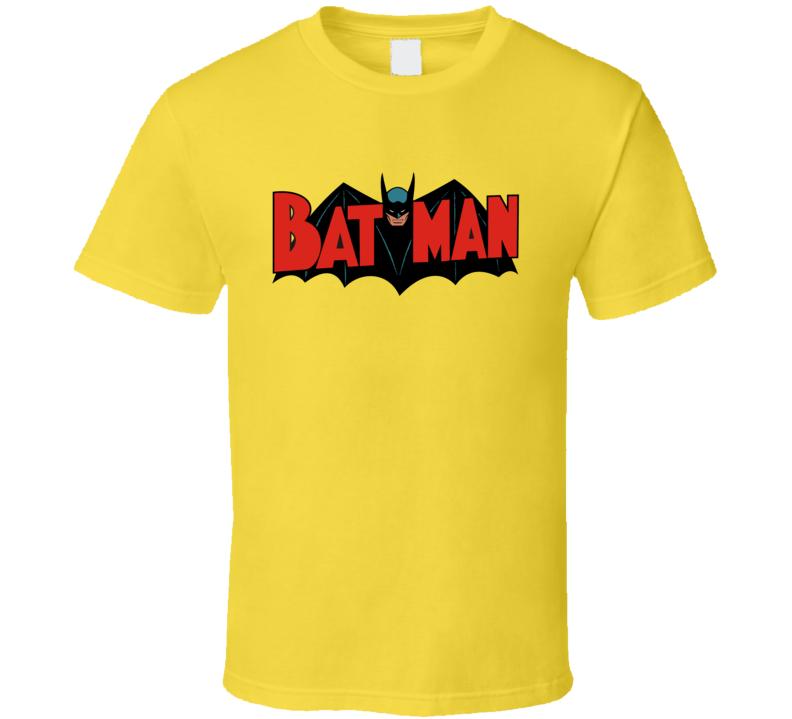 Batman Vintage Comic Book Logo Retro Bat Man T Shirt