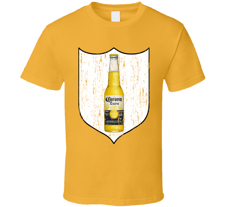 Corona Extra Beer Banner Bottle Alcoho Distressed T Shirt