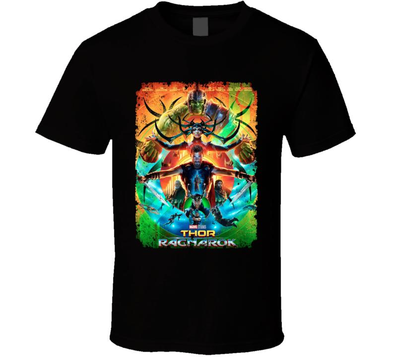 Thor Ragnarok Movie Poster Marvel Hulk Hela Loki Distressed T Shirt