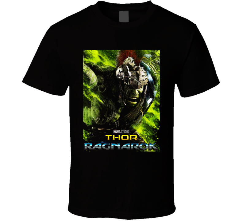 Thor Ragnarok Movie Hulk Poster Marvel Hela Loki Black Art T Shirt