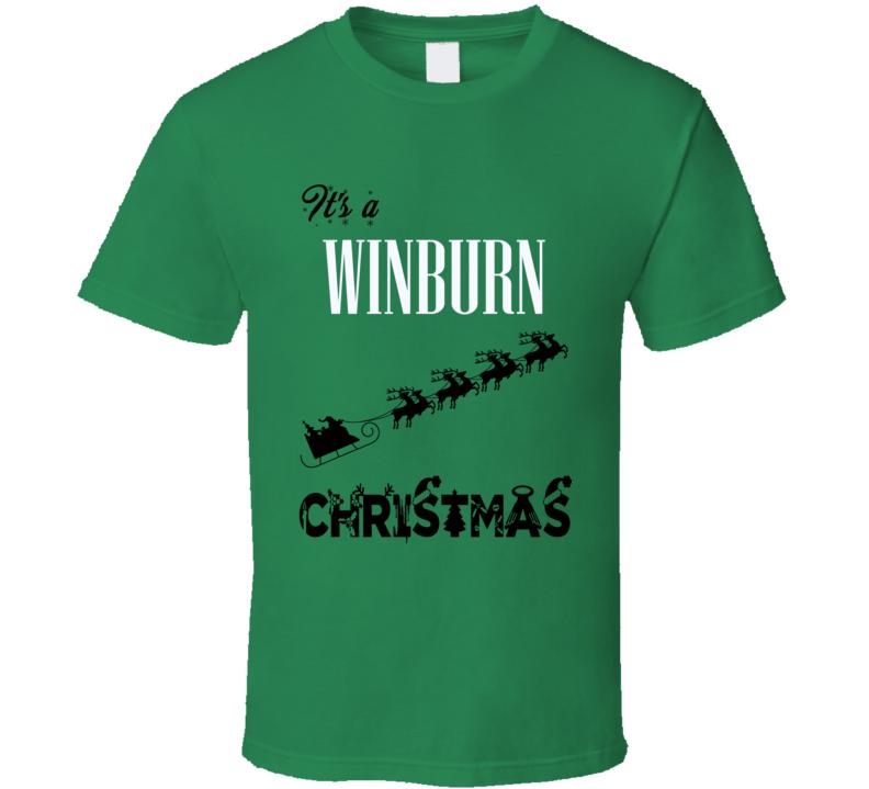 Its a Winburn Christmas Name Parody Funny T Shirt