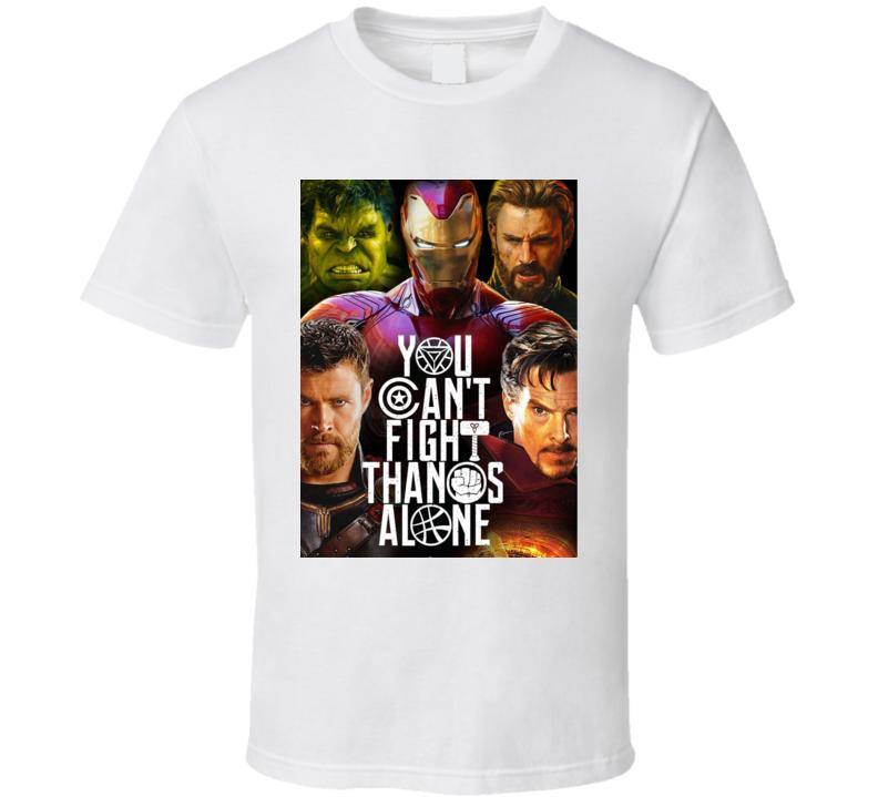 Avengers Infinity War Movie Poster Thanos Thor Strange T Shirt