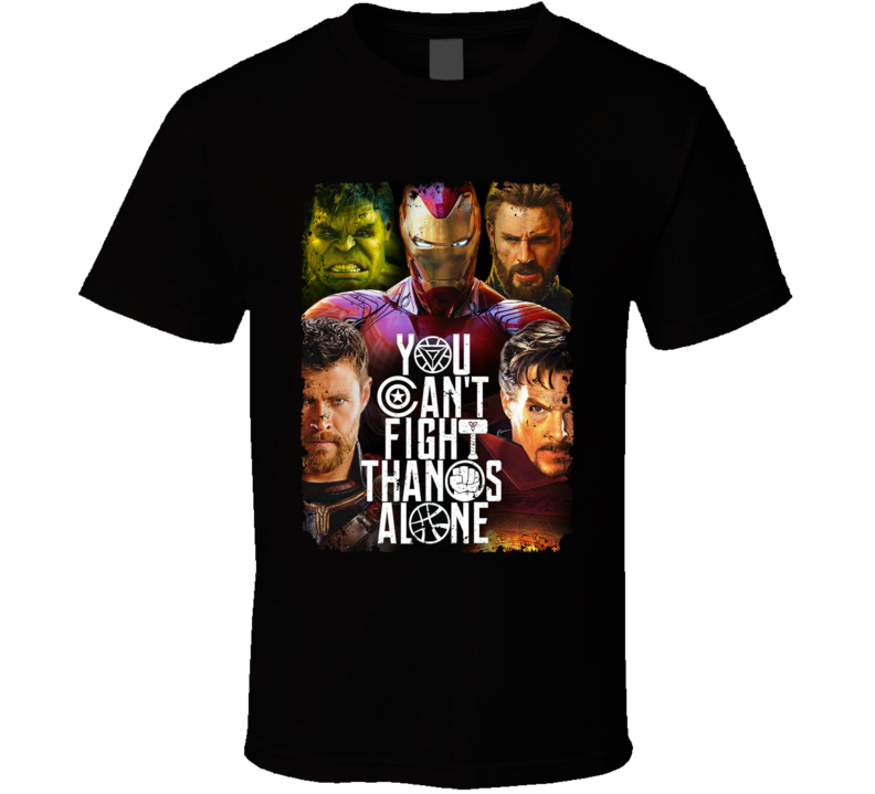 Avengers Infinity War Movie Poster Thanos Thor Hulk T Shirt