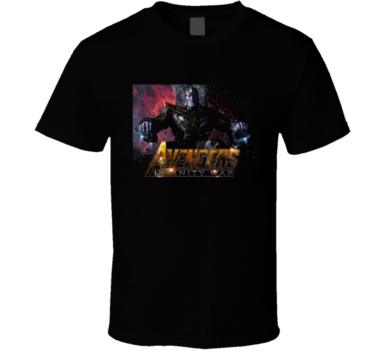 Thanos Avengers Infinity War Movie Poster Art Black T Shirt