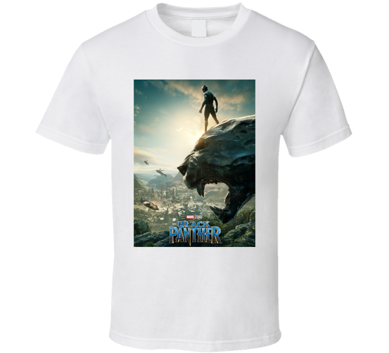 Black Panther Movie Poster Super Hero Avenger T Shirt
