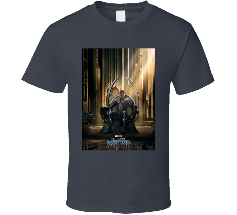 Black Panther Movie Poster Super Hero Throne T Shirt