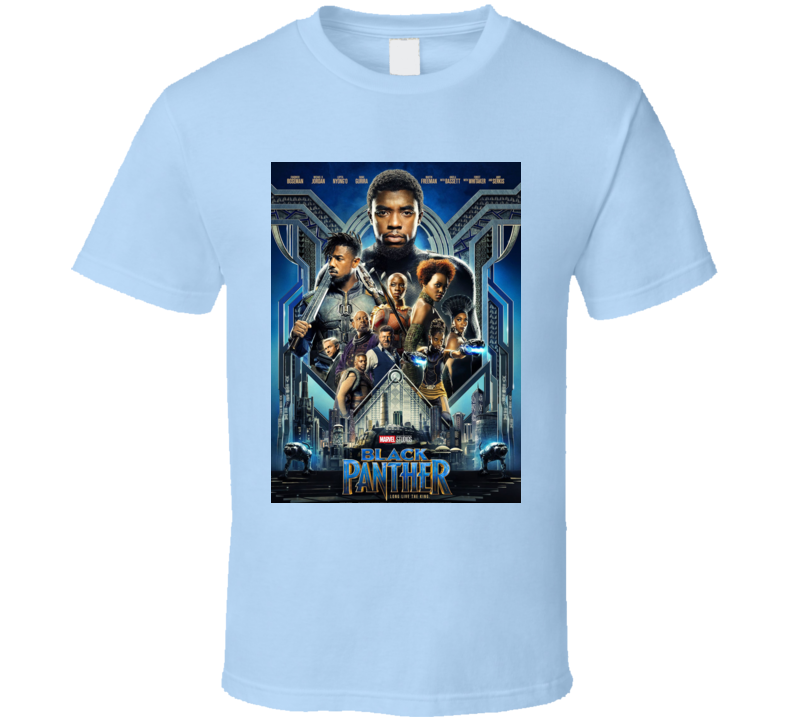 Black Panther Movie Super Hero Avenger Poster T Shirt