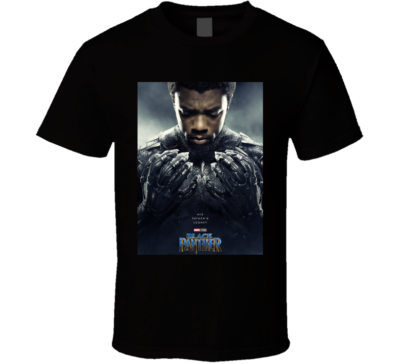 Black Panther Avenger Movie Super Hero Poster T Shirt