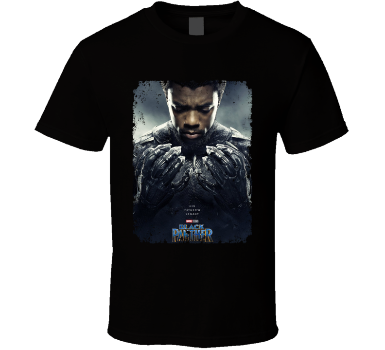 Black Panther Avenger Movie Super Hero Poster Distressed T Shirt
