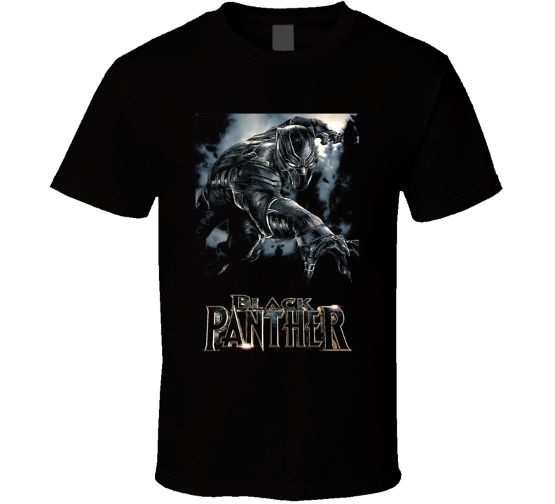 Black Panther Avenger Movie Super Comic Art Black T Shirt