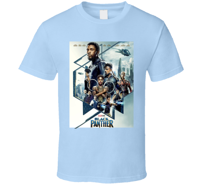 Black Panther Avenger Movie Super Hero Logo T Shirt