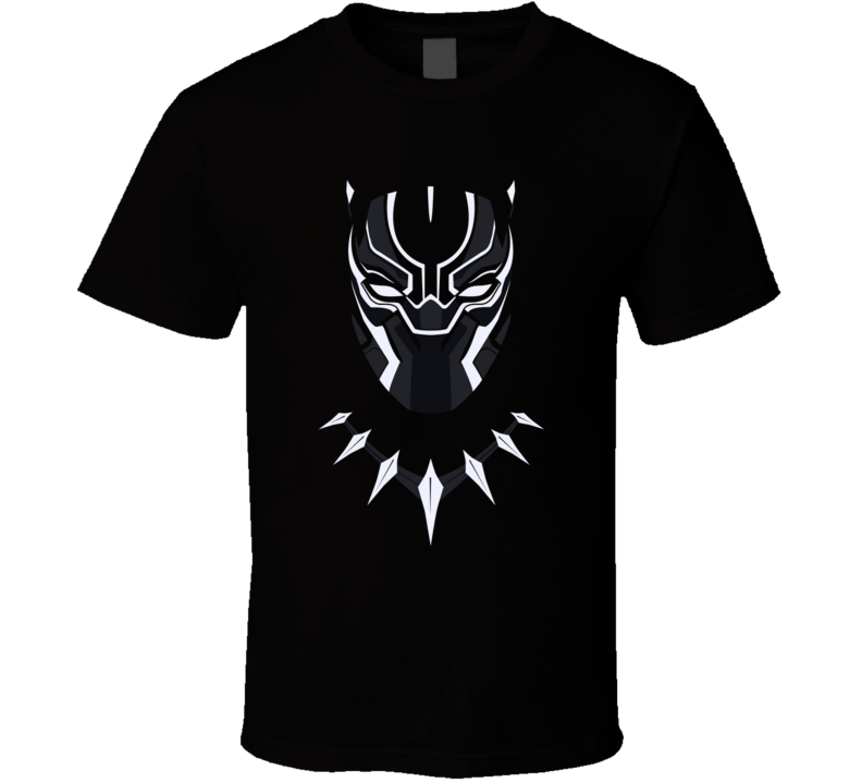 Black Panther Avenger Movie Super Hero Face Mask T Shirt