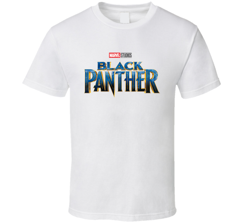Black Panther Avenger Movie Logo Super Hero Marvel T Shirt