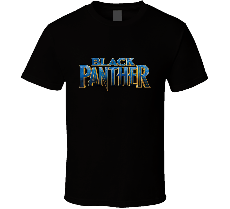 Black Panther Avenger Logo Super Hero Movie T Shirt