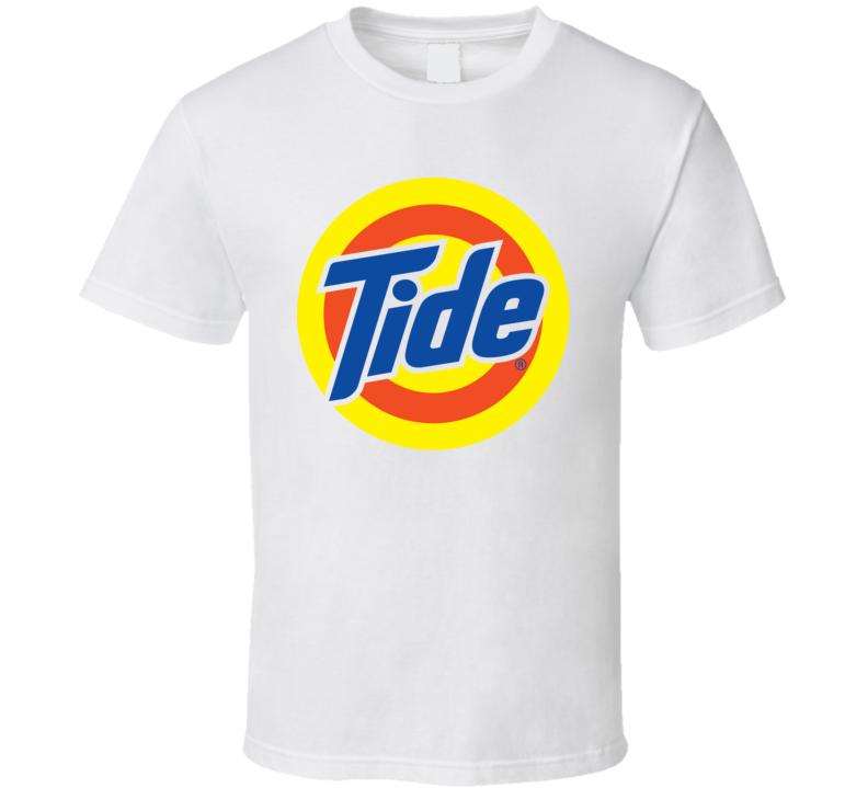 Tide Logo Detergent Laundry White T Shirt