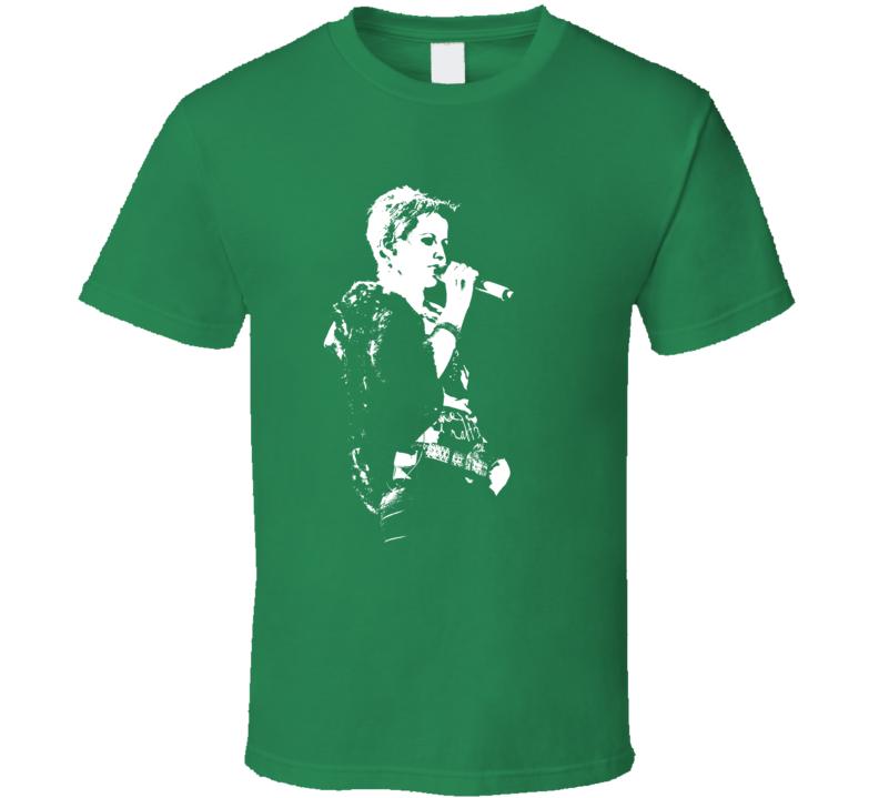 The Cranberries Dolores Oriordan Singer Rock Band Irish Music T Shirt