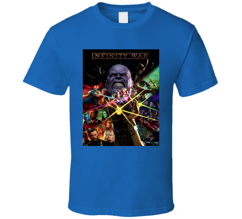 Avengers Infinity War Thanos Movie Poster Art T Shirt