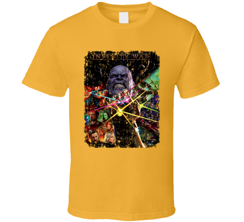 Avengers Infinity War Thanos Movie Poster Art Distressed T Shirt