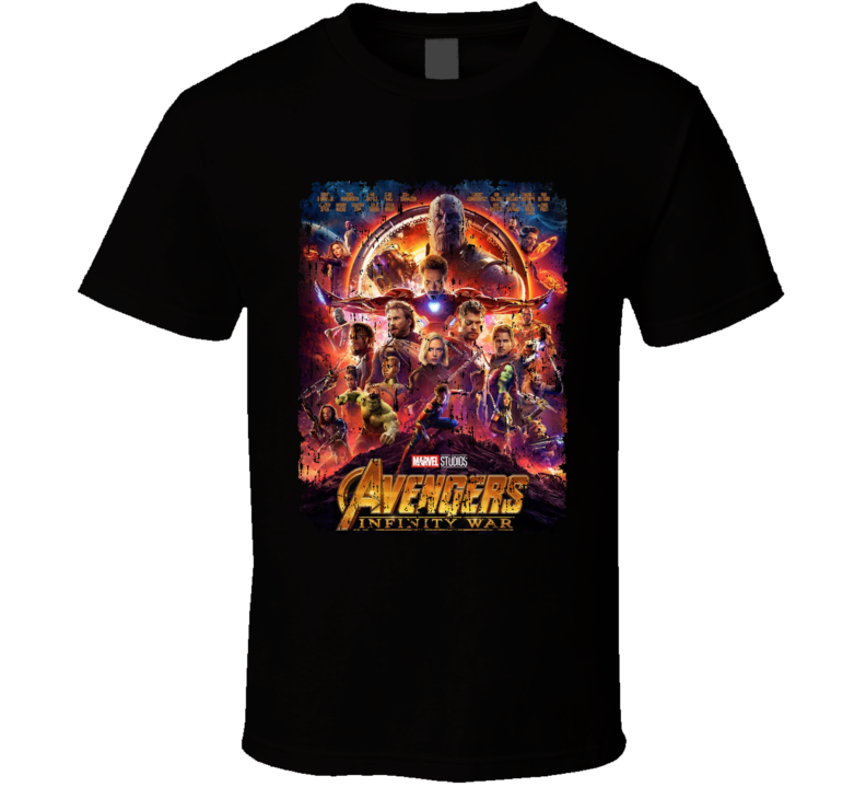 Avengers Infinity War Thanos Movie Hulk Drax Aged Poster T Shirt