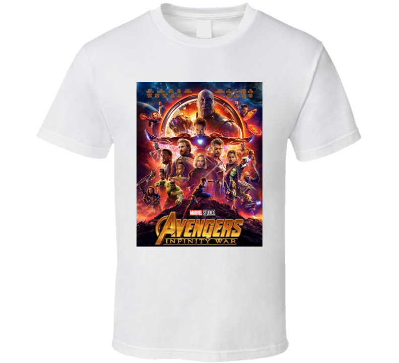 Avengers Infinity War Thanos Movie Hulk Drax Thor Poster T Shirt