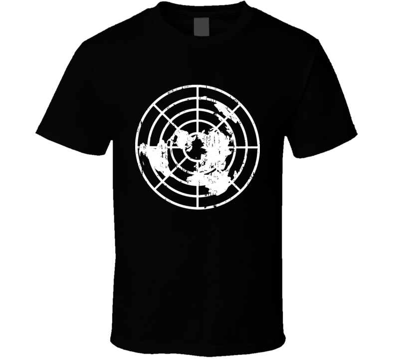 Flat Earth Society Logo Truth Seeker Conspiracy Flatty Aged T Shirt