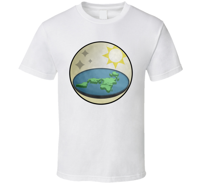 Flat Earth Society Logo Truth Seeker Conspiracy Flatty T Shirt