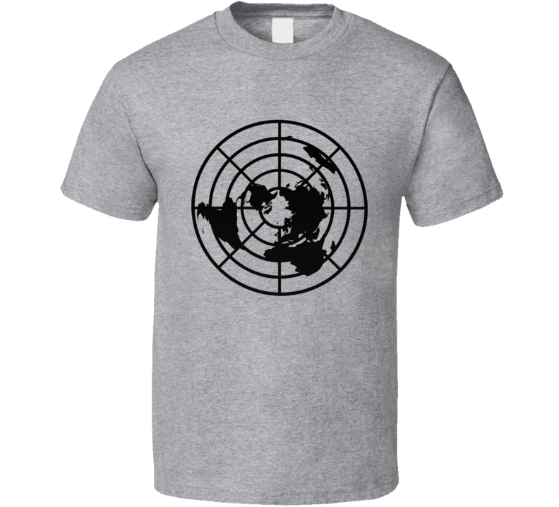 Flat Earth Society Logo Truth Seeker Conspiracy Un Flatty T Shirt