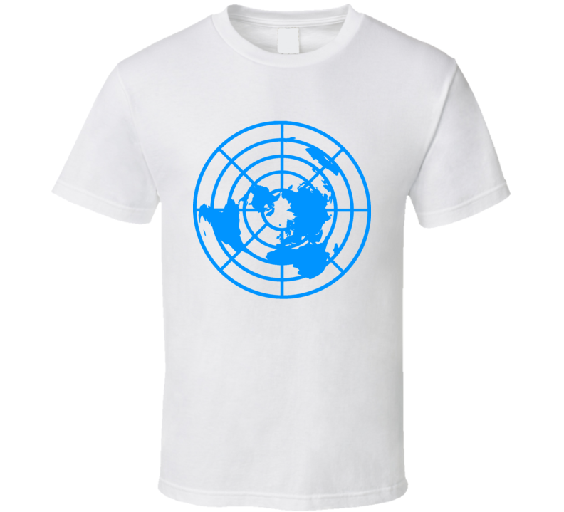 Flat Earth Society Logo Un Truth Seeker Conspiracy Flatty T Shirt