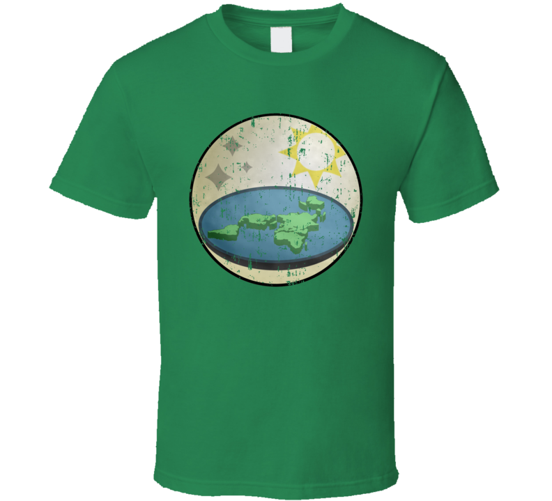 Flat Earth Society Truth Seeker Conspiracy Flatty  Distressed T Shirt