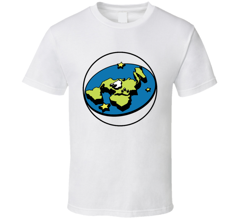 Flat Earth Society Truth Seeker Logo Conspiracy Flatty T Shirt