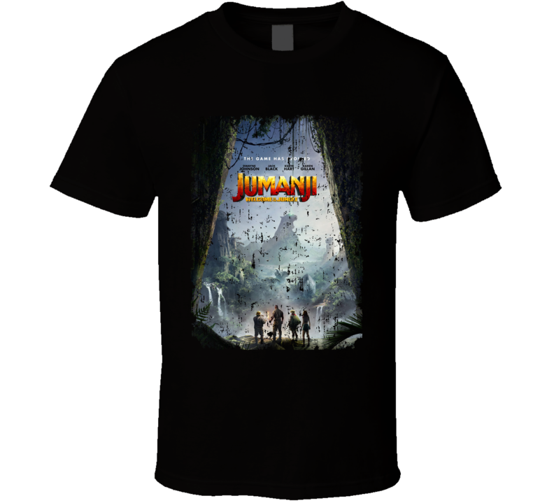 Jumanji Welcome To The Jungle Cast Far Movie Aged T Shirt