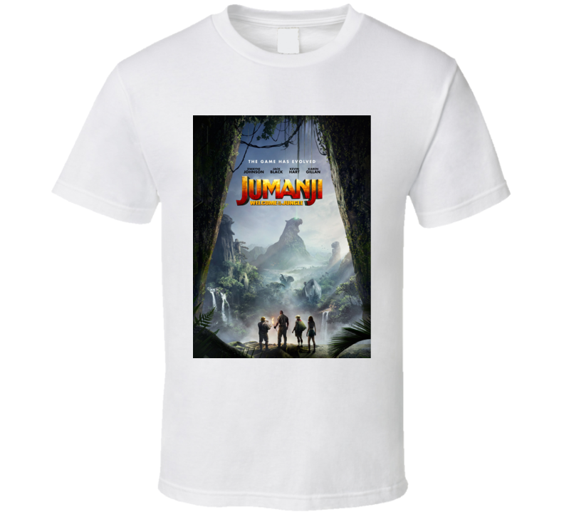 Jumanji Welcome To The Jungle Cast Far Movie Poster T Shirt