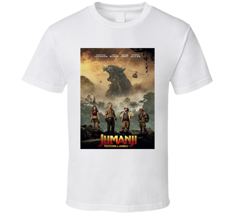 Jumanji Welcome To The Jungle Cast Movie Poster T Shirt