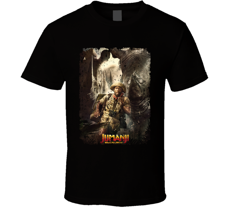 Jumanji Welcome To The Jungle Mouse Movie Poster Aged T Shirt