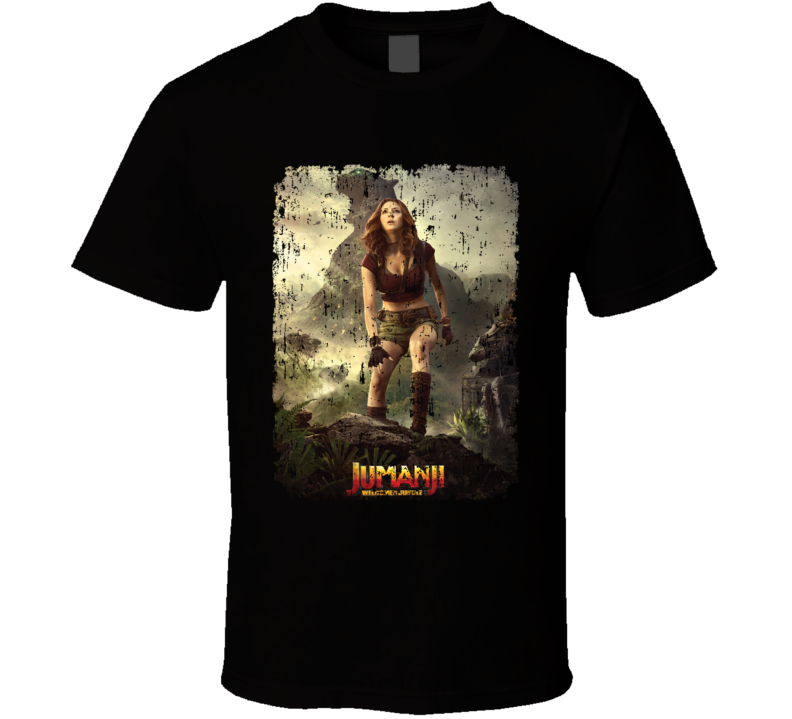 Jumanji Welcome To The Jungle Ruby Movie Poster Aged T Shirt