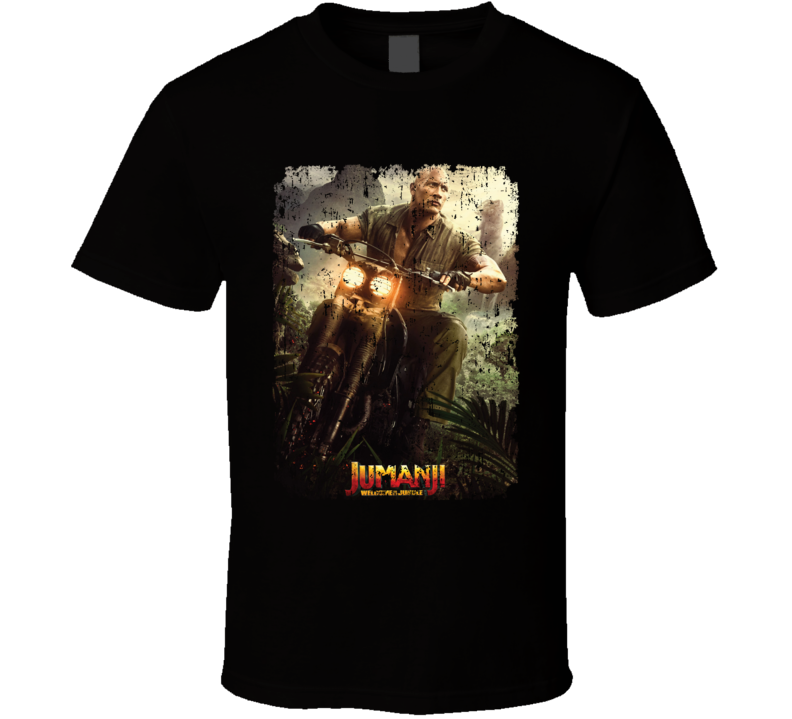 Jumanji Welcome To The Jungle Smolder Movie Poster Aged T Shirt