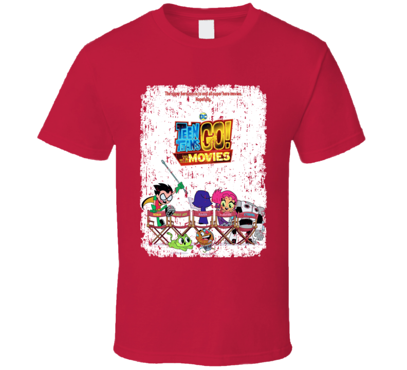 Teen Titans Go To The Movies Poster Cartoon Starfire Aged T Shirt