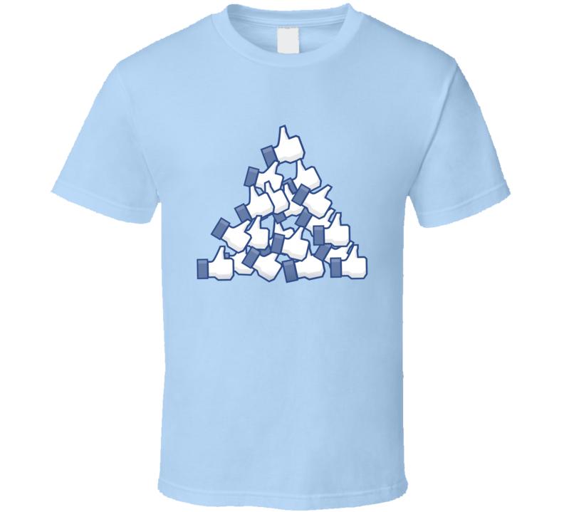 Facebook Pile Of Likes Like Symbol Parody Funny T Shirt