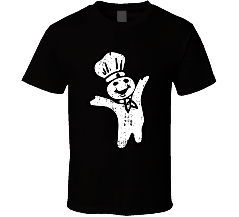 Pillsbury Doughboy Retro Figure Funny Aged T Shirt